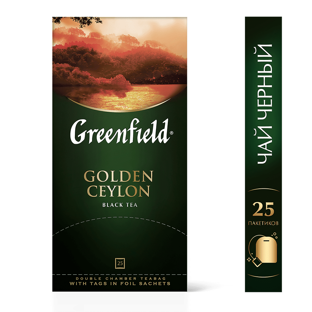 Greenfield Golden Ceylon Чай черный 25 шт.