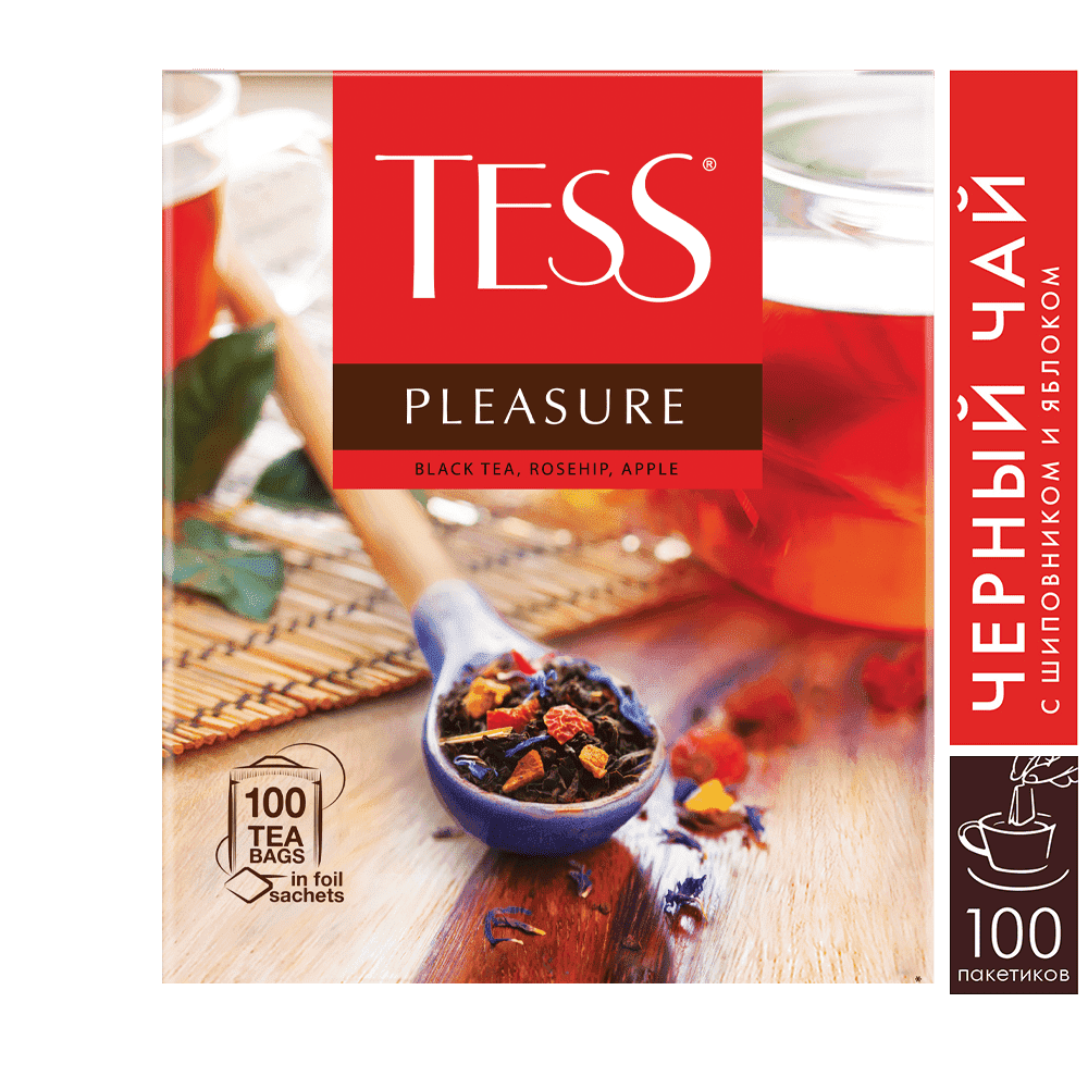 Чай черный Tess Pleasure пакетики 100х1.5 г